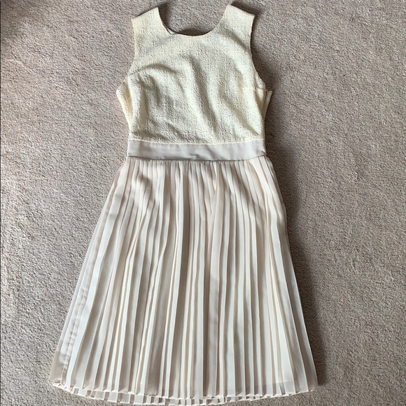 Pim + Larkin Dresses & Skirts - Lace and Pleated Dress - Off-white - Size S